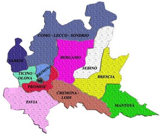 Mappa delle zone